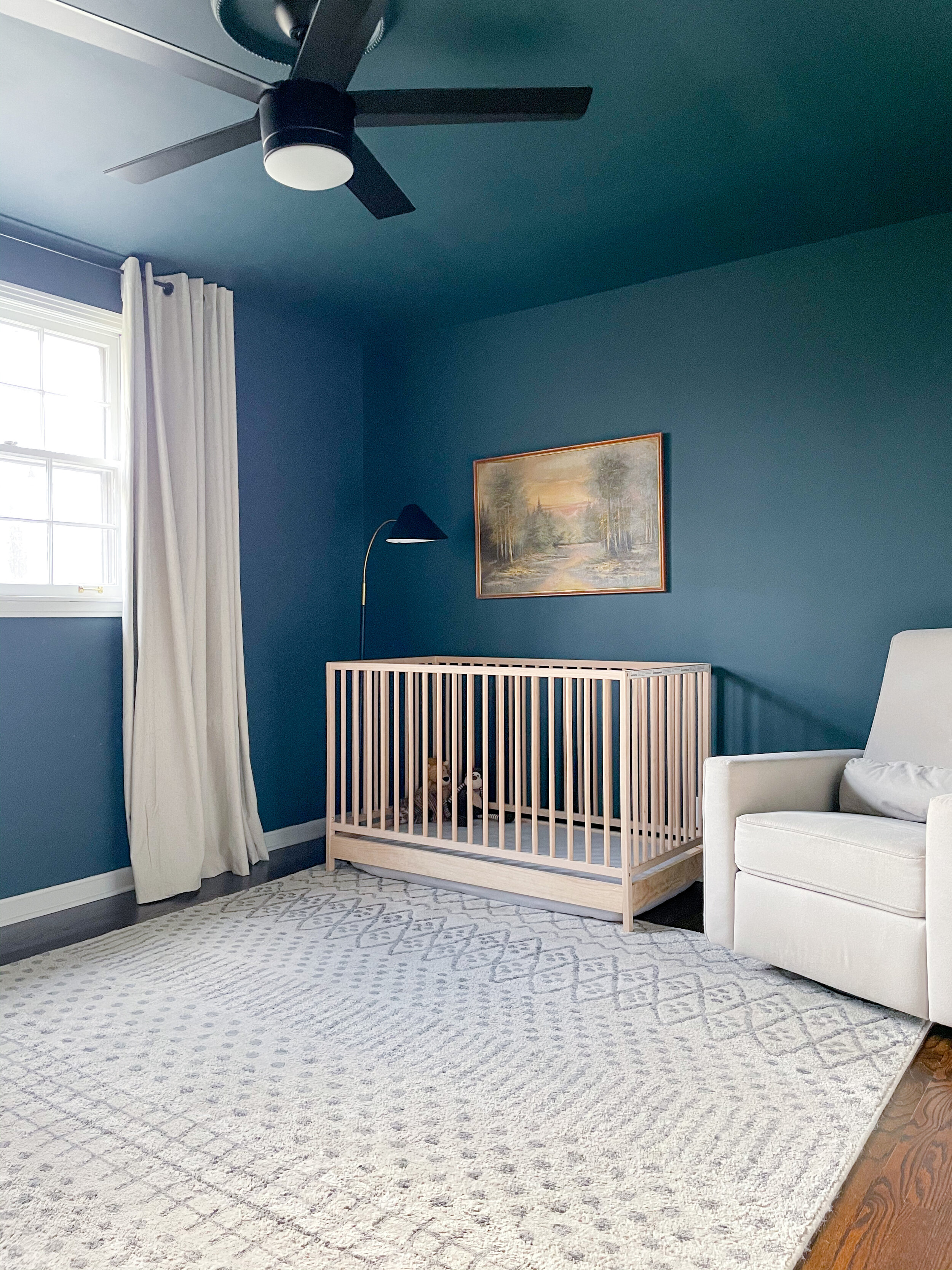 - If you saw our Toddler Room Reveal, you?ve seen this crib before. It?s from Ikea and its a great option if you?re looking for a simple, natural wood crib! I love that we were able to move the mattress all the way to the floor now once Judah started climbing out. It has grown with him so well!
